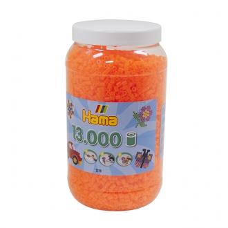 ハマビーズ ボトル 13000pcs ケイコウクリアオレンジ