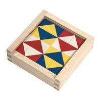 キュービックパズル モザイクホワイト 16ピース