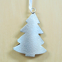 【在庫限り】メタルオーナメント クリスマスツリー(柄入り)