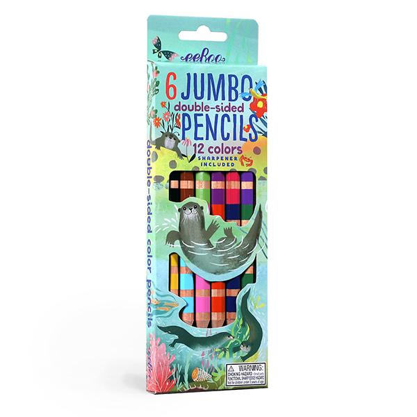 ジャンボ色鉛筆 水辺のカワウソたち