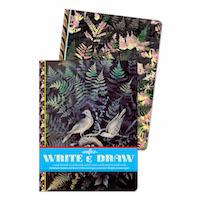 【在庫限り】Write&Drawノート(2冊セット)真夜中の森