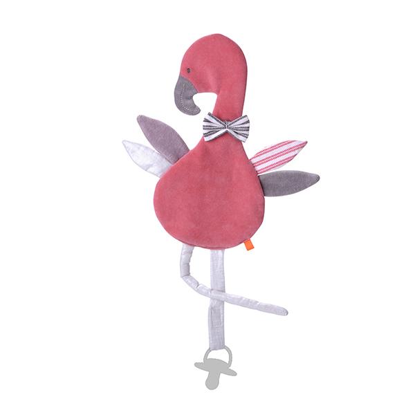 おしゃぶりタオル ピンクフラミンゴ