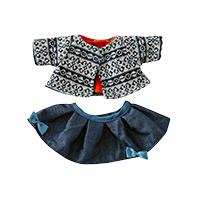 【再入荷時期未定】ベビー・ステラ ブルーニット&スカート