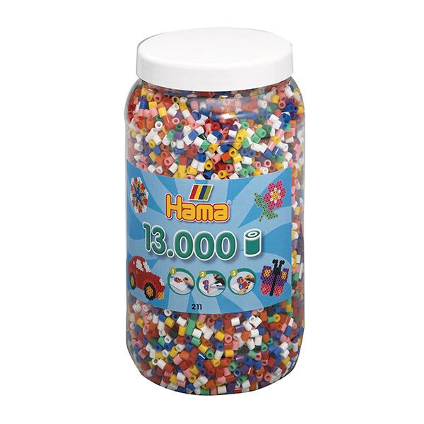 ハマビーズ ボトル 13000pcs mix基本10色