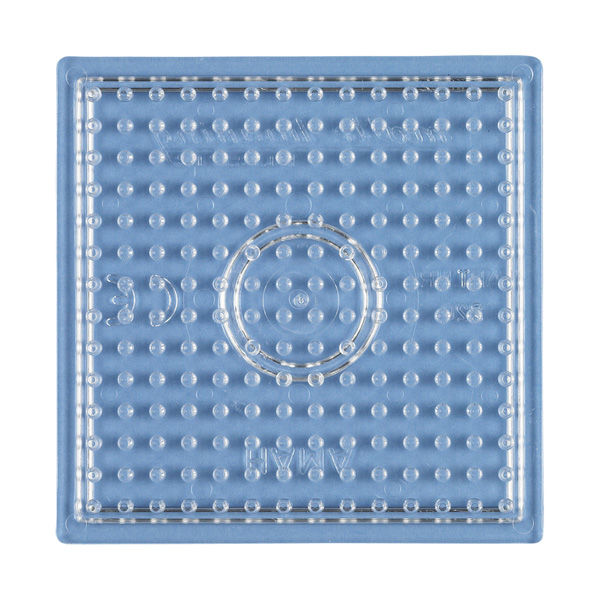 ハマビーズ  ボードS 正方形(透明)