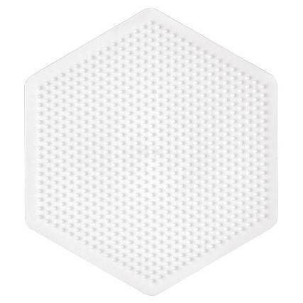 ハマビーズ ボードL 六角形(白)