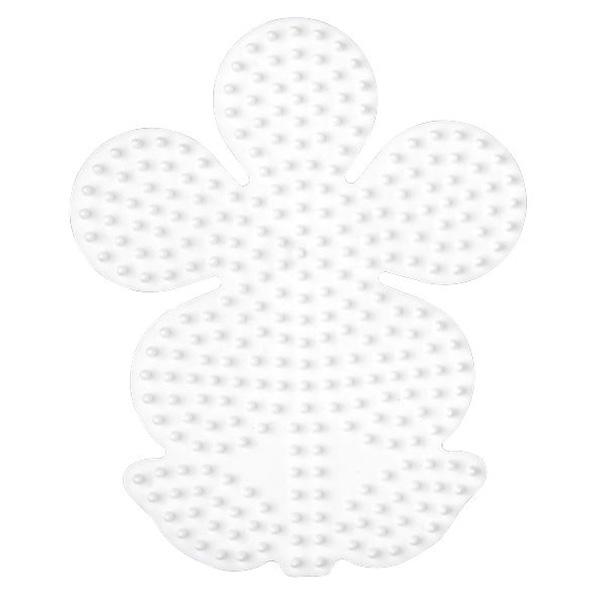 ハマビーズ ボード フラワー(白)