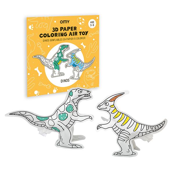 塗って楽しむ OMY 3Dエアトーイ 恐竜