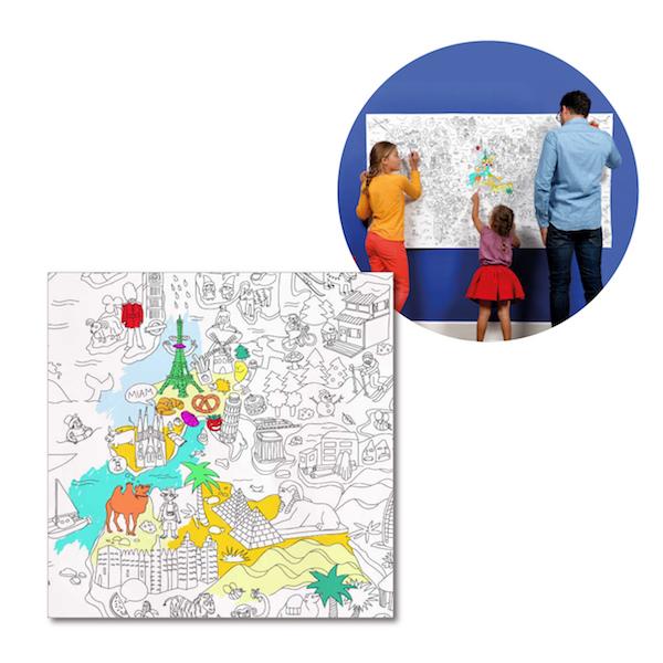 塗って楽しむ OMY ジャイアントポスターXXL(96×180cm) 世界地図