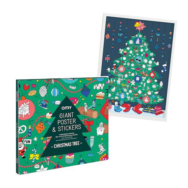 シールで彩るクリスマスツリー OMY ステッカーポスター(70×100cm)
