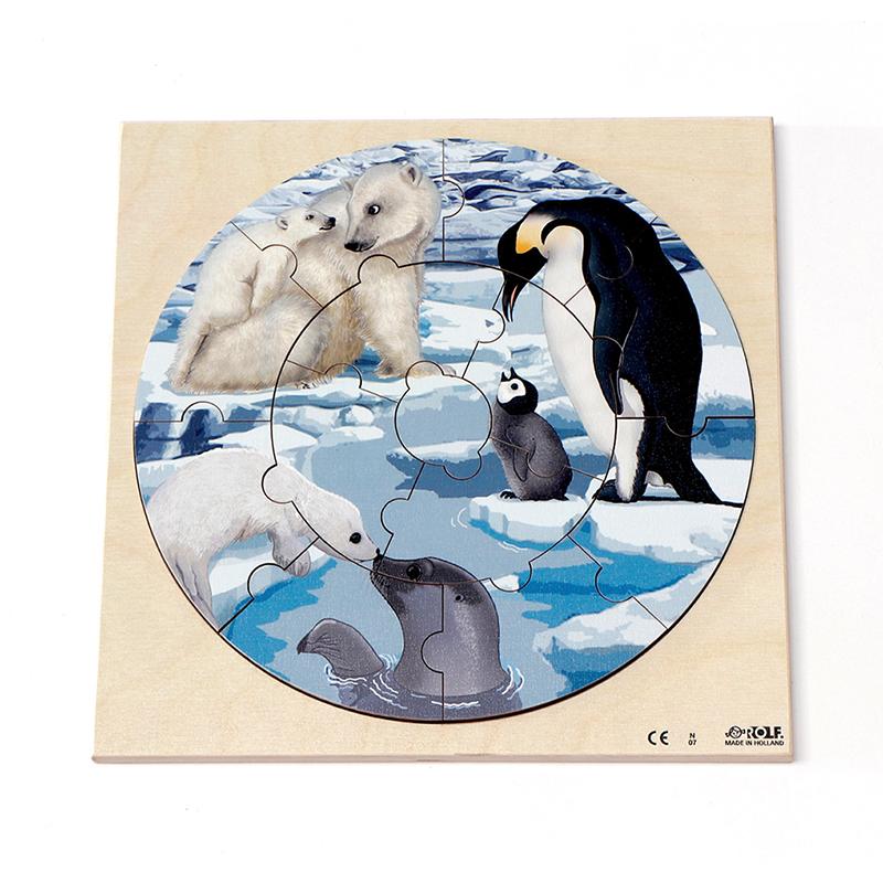 円形パズル 北極