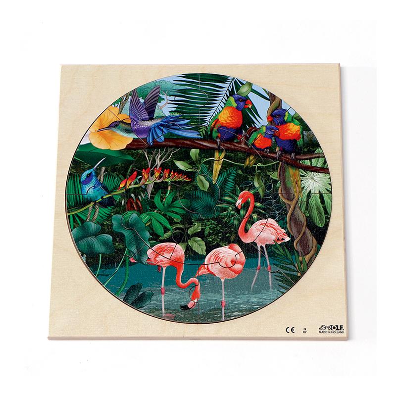 円形パズル 熱帯雨林