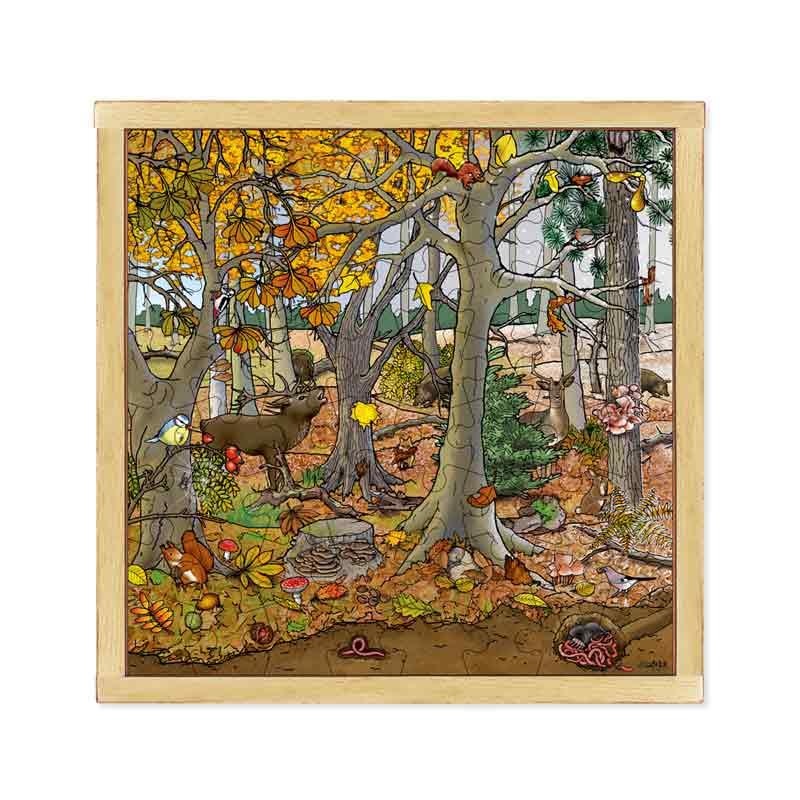 パズル「美しい森」秋〜冬