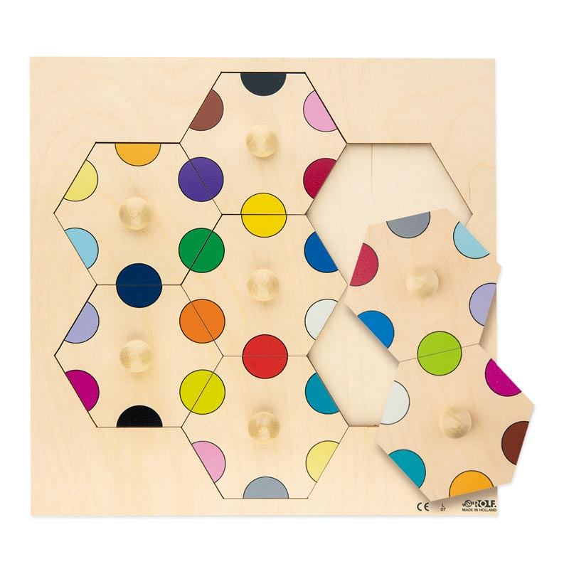 六角形パズル「カラードット」