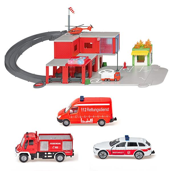 【オンライン限定】SIKU WORLD 消防署 特別セット
