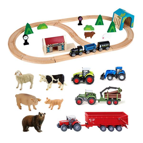 のどかな田舎町を旅する列車セット