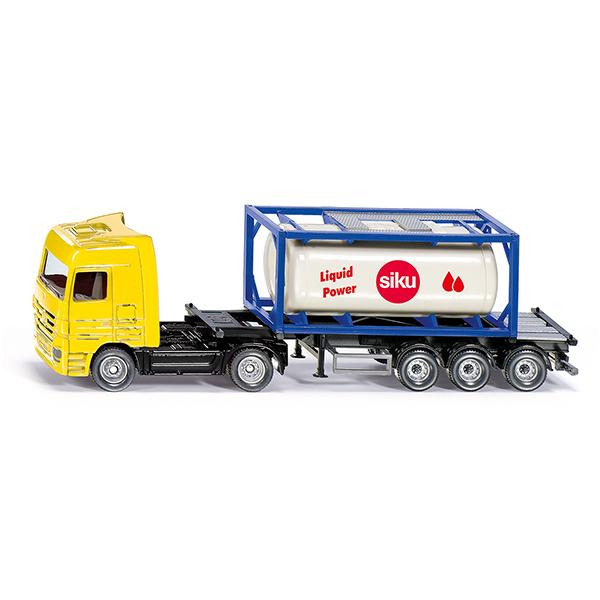 タンクコンテナ付きトラック 1:87(ジク・SIKU)